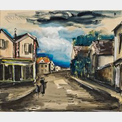 Maurice de Vlaminck (French, 1876-1958)      Village Street