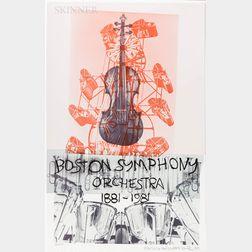 Robert Rauschenberg (American, 1925-2008)      Boston Symphony Orchestra 1881-1981  /100th Anniversary Poster