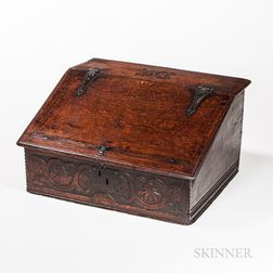 Carved Oak Desk Box