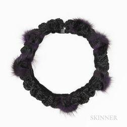 Tina Rath Black Fur Necklace