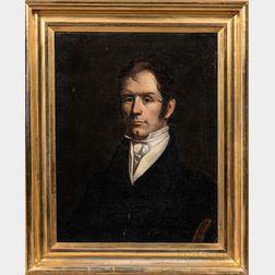 American School, 19th Century      Portrait of a Gentleman, Possibly John Field (1796-1876)