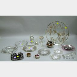Approximately Seventeen Pieces of Silver Overlay Glass Table and Serving Pieces
