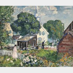 Gifford Beal (American, 1879-1956)      Yards in Rockport