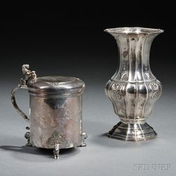 Two Continental Silver Items