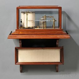 A & N.C.S. Ltd. Mahogany and Glass Cased Barograph