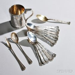 Sixteen Pieces of Tiffany & Co. Sterling Silver Tableware