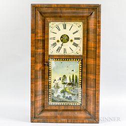 Mahogany Veneer Ogee Clock