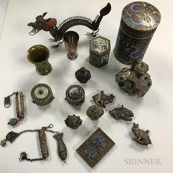 Eighteen Metalwork Items