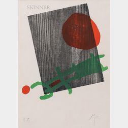 Joan Miró (Spanish, 1893-1983)      Poster for A toute épreuve de Paul Eluard