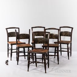 """Twelve Fancy Painted """"Hitchcock"""" Side Chairs"""