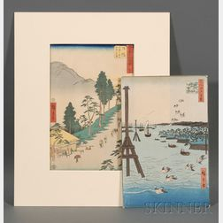 Two Prints by Hiroshige: