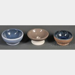 Three Wedgwood Norman Wilson Footed Bowls