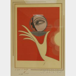 (DECO) Romain (Erte) De Tirtoff  (Russian/French, 1892-1990)      Vanity