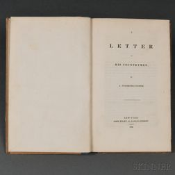 Cooper, James Fenimore (1789-1851) A Letter to His Countrymen