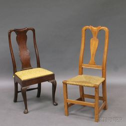 Two Queen Anne Side Chairs