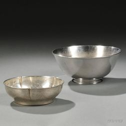 Two Arts & Crafts Sterling Silver Bowls