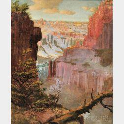 Louis Akin (American, 1868-1913)      Grand Canyon