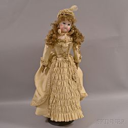 Large French Bisque Head Fashion Doll