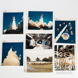 Space Shuttle Challenger Disaster, January 28, 1986, NASA Thirteen Photographs; Seventy Cassette Tapes of Presidential Commission Brief
