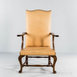 Late 18th Century-style Tiger Maple Lolling Chair