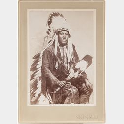 Cabinet Card Photo, Poor Buffalo, Kiowa Warrior