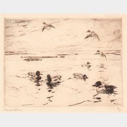 Frank Weston Benson (American, 1862-1951)      Whistlers