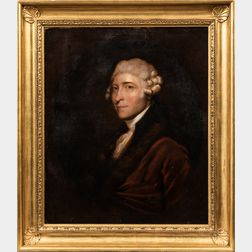 After Gilbert Stuart (American, 1755-1828)      Portrait of Scottish Diplomat Caleb Whitefoord (1734-1810)