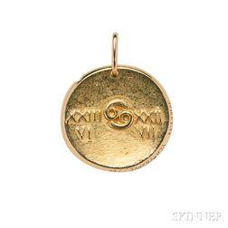 18kt Gold Zodiac Charm, Van Cleef & Arpels