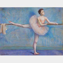 Louis Kronberg (American, 1872-1965)      No. 1.  Dancer in Rose at the Barre