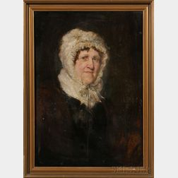 Continental School, 19th Century      Older Lady in a Ruffled Bonnet