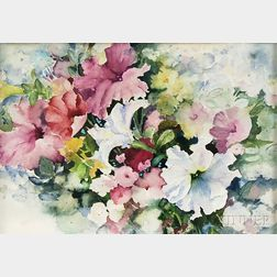 Anne Martinez (American, 20th/21st Century)      Floral Watercolor.