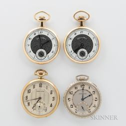 Four Hamilton Size 12 Open-face Watches