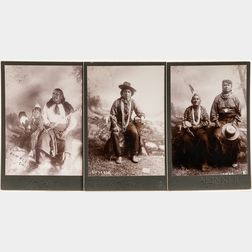 Three Cabinet Card Photos of American Indians