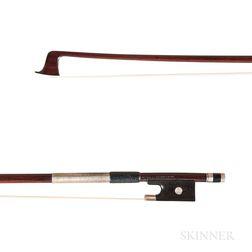 French Silver-mounted Three-quarter Size Violin Bow, Charles Nicolas Bazin