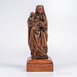 Sculpture of St. Anne with the Virgin Mary and Christ
