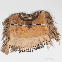 Apache Women's Beaded Hide Cape