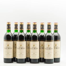 Chateau Talbot 1986, 8 bottles