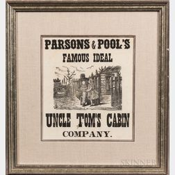Two Framed Parsons & Pool's Uncle Tom's Cabin   Play Broadsides