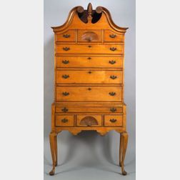 Queen Anne Maple Carved High Chest