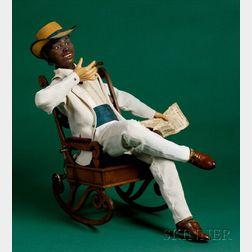 Rare Automaton of a Louisiana Black Smoker by Vichy