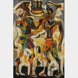 Henry Schwartz (American, b. 1927)      Oedipus & Jocasta