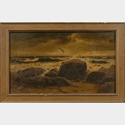 Attributed to Charles Drew Cahoon (Massachusetts, 1861-1951)      Seascape.