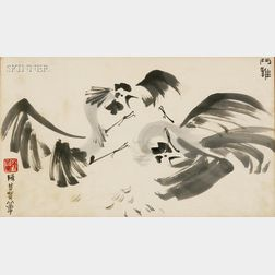 Chen Chi-Kwan (Chinese, 1921-2007)      Cockfight