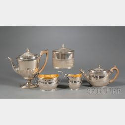 Assembled Five Piece George III Silver Tea and Coffee Service