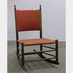 Mt. Lebanon Shaker Maple Rocking Chair with Woven Tape Back and Seat