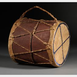 American Indian Wood and Hide Drum