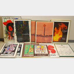 Eleven Exhibition Posters:      Artigas céramiques