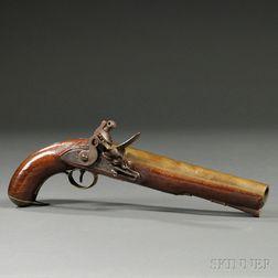 Brass Barrel British Flintlock Pistol