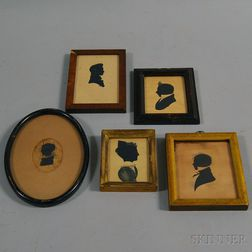 Five Framed Silhouette Portraits