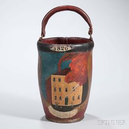 Paint-decorated Leather Fire Bucket